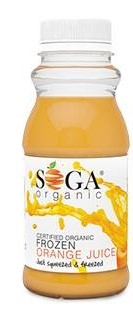 Frozen Organic Orange Juice – 250ml